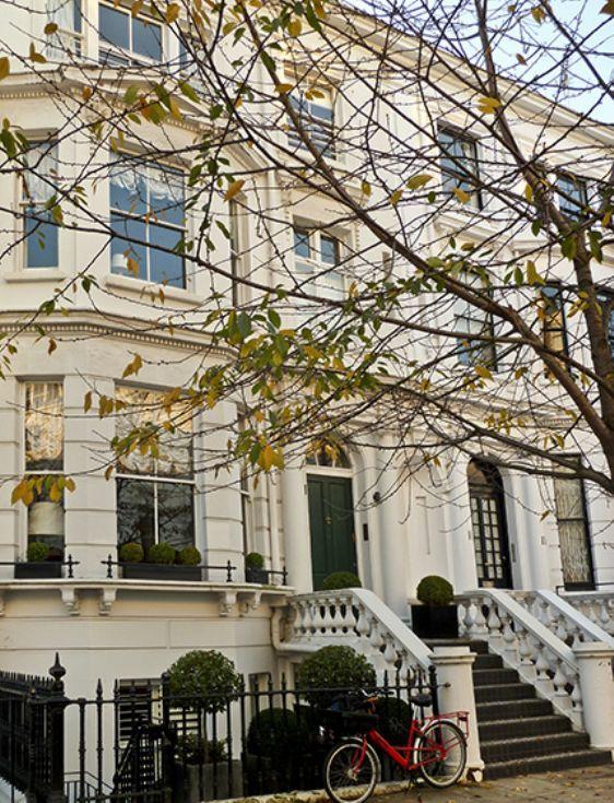White stucco home Kensington London