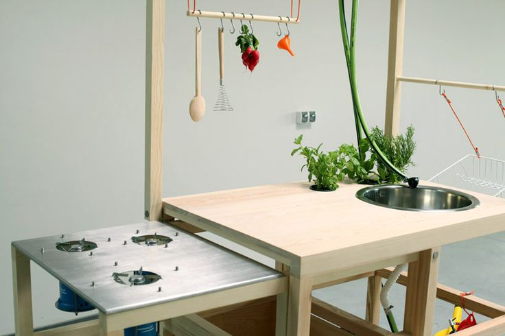 'mobile hospitality' by chmara.rosinke  portable kitchen and dining set.