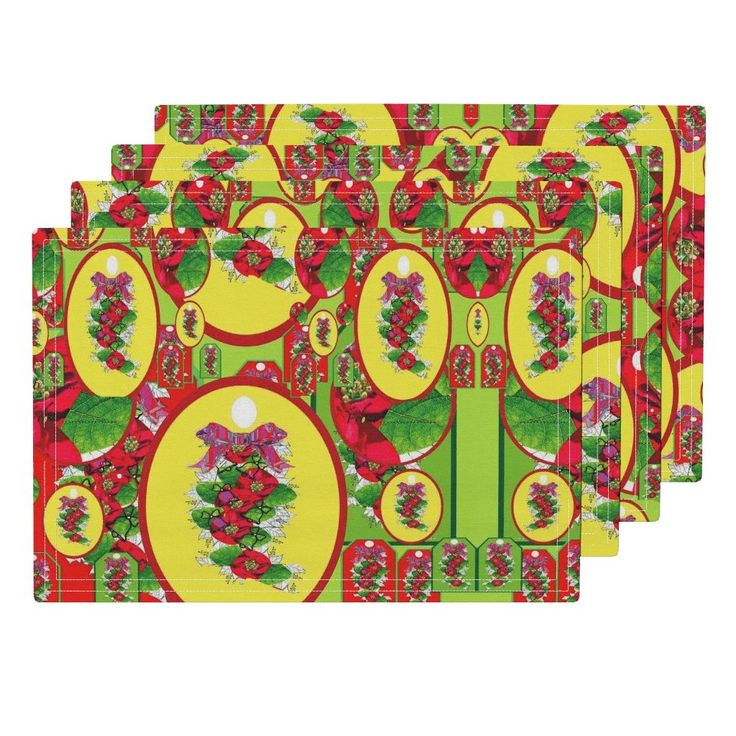 Lamona Cloth Placemats featuring  Colourful  Christmas  by vondy | Roostery Home Decor