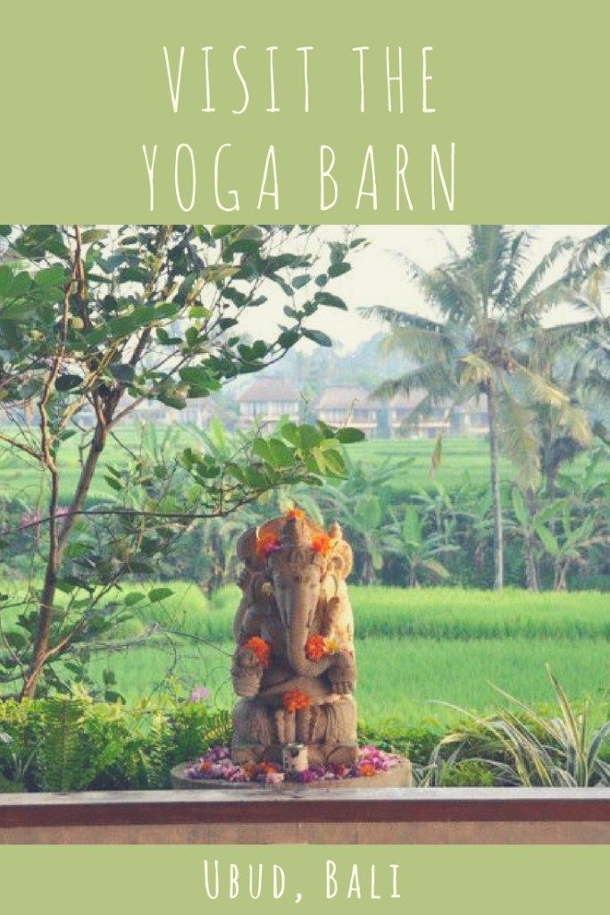 Yoga in Bali... Ubud's Yoga Barn is the perfect destination!