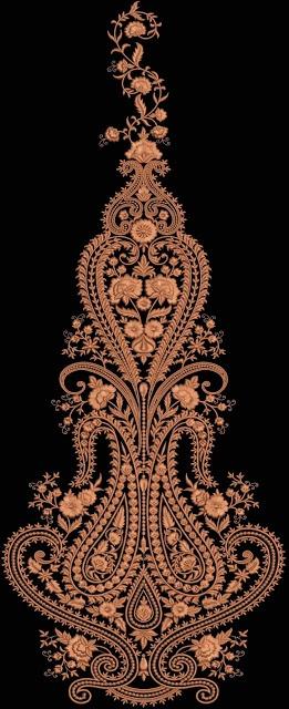 Neck line, Multi Flat & Kali Design by Zahid Ali - Embdesigntube