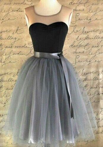 Homecoming chiffon prom dress