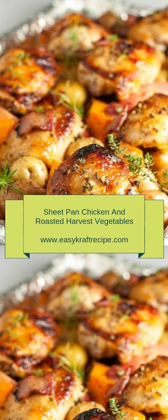 Sheet Pan Chicken And Roasted Harvest Vegetables Christmas Lunch