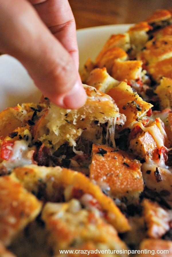 Stuffed Italian Bread Recipe {with Pizza Toppings} Tip, add more cheese than it calls for.