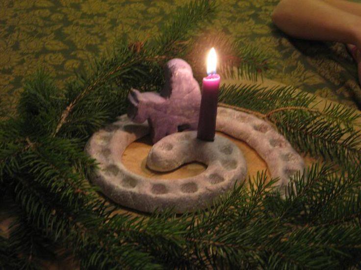Advent Spiral out of Salt Dough