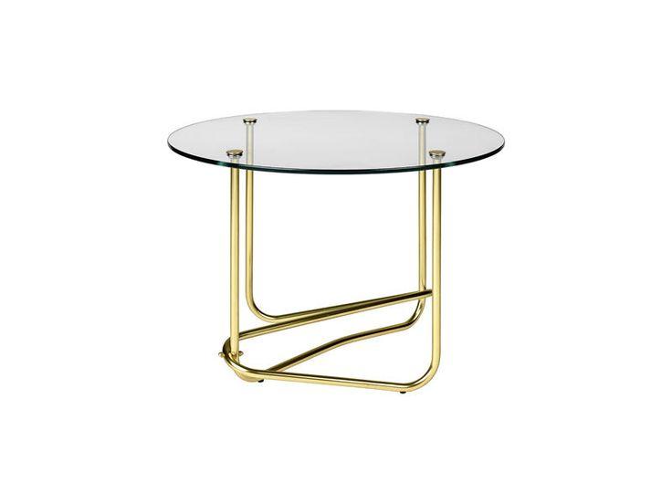 GUBI // Matégot glass coffee table in clear glass by Mathieu Matégot
