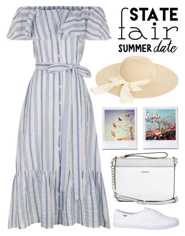 """""""Summer Date: The State Fair 1777"""" by boxthoughts ❤ liked on Polyvore featuring Lisa Marie Fernandez, GUESS, Oasis, statefair and summerdate"""