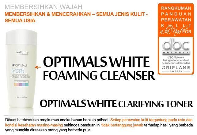 Optimals White Foaming Cleanser | Optimals White Clarifying Toner  | #pembersih #wajah #mencerahkan #kulit #semuajeniskulit #semuausia #tipsdBCN #Oriflame