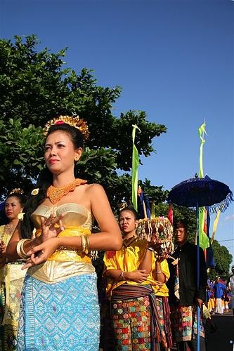 Wedding procession, Lombok, Indonesia