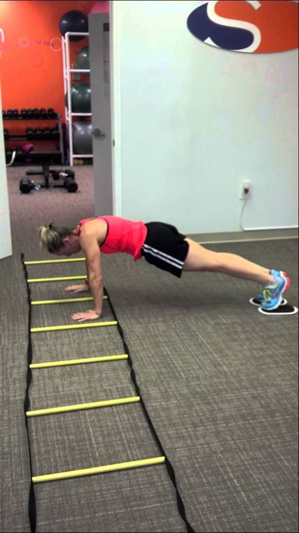 Plank push ups with jack knife and slide