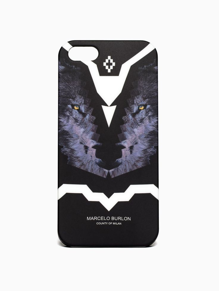 "iPhone 5 ""Wolf Race"" case from Marcelo Burlon County of Milan collection in black."