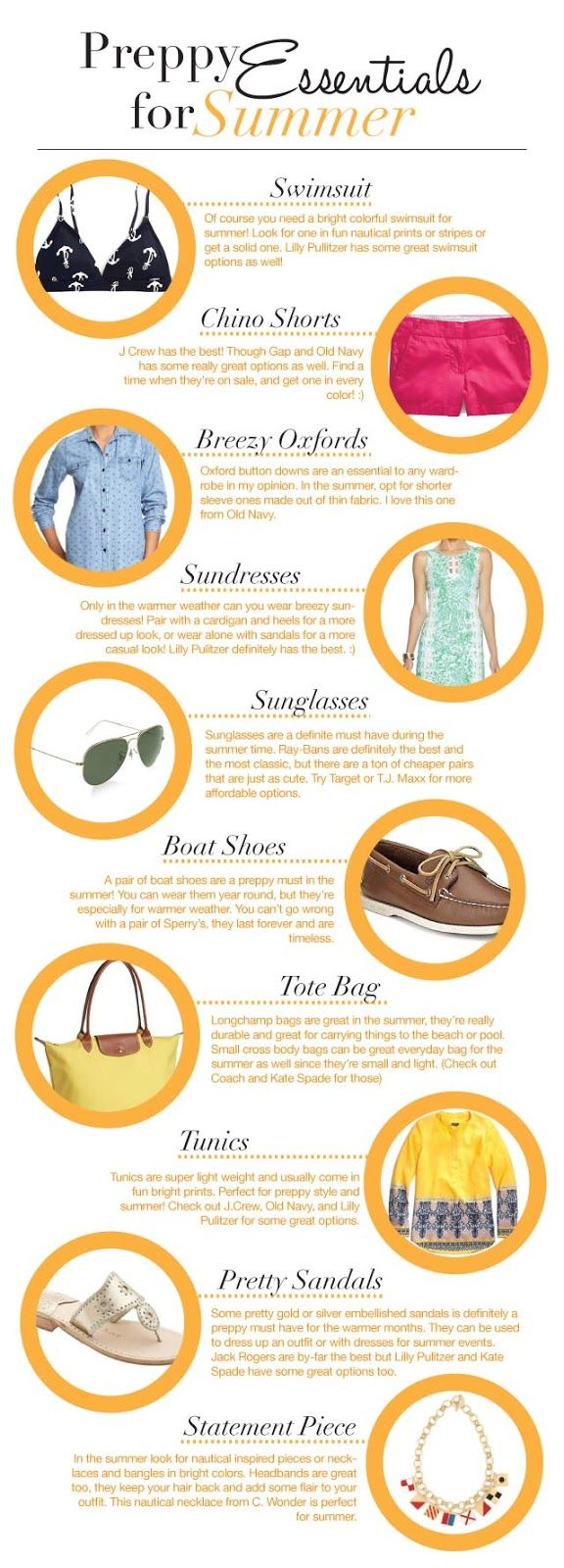 Summer essentials for the preppy girl