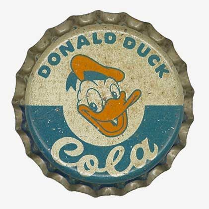 Oh this is soooo cool!  (I'm weird that way).  LOL: Bottle Caps, Donald Ducks, Vintage Bottle, Cola Bottlebottlecapart, Ducks Cola, Sodas Bottle, Coca Cola Bottle, Crowns Cap, Cola Bottle Bottle Cap Art