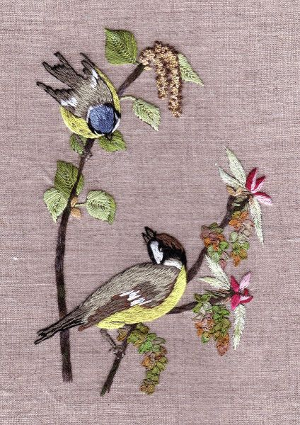 ♒ Enchanting Embroidery ♒ embroidered birds