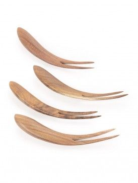 Wooden Fruit Forks-Set of 4