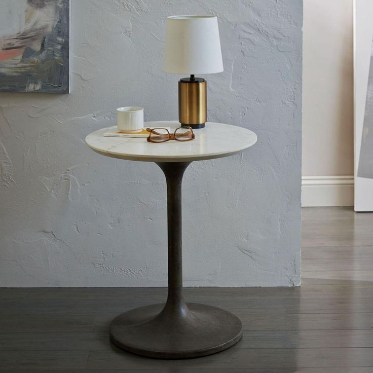 Our Concrete Pedestal Side Table marries traditional form with modern   industrial style  Casted with38 best Marble Love images on Pinterest   West elm  Marble top and  . Marble Dining Table West Elm. Home Design Ideas