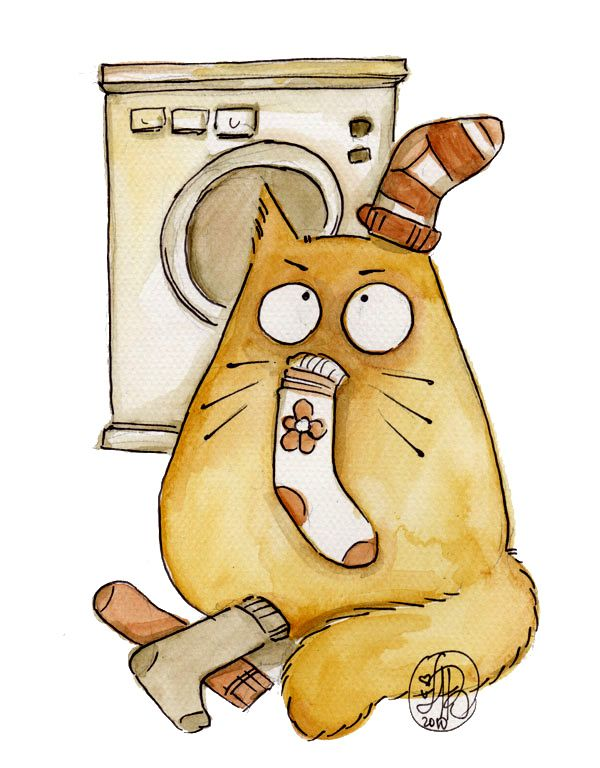 Картинки кошек мультяшных прикольных, новогодняя