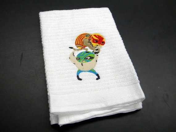 Mexican wrestlers towel. Luchadores!
