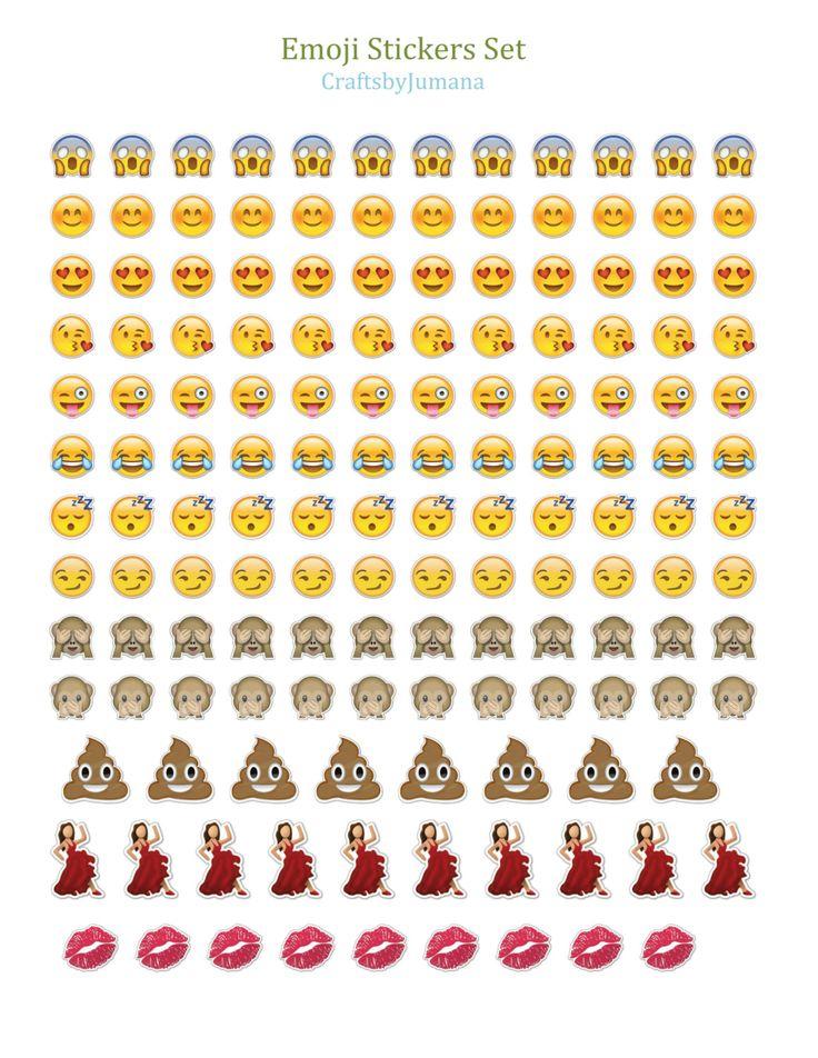 PRINTABLE Whatsapp Emoji Sticker set by CraftsbyJumana on