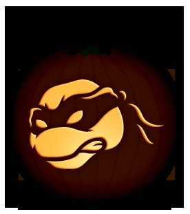 Ninja Turtle Pumpkin.  David has to do this one this year. Kolter will go crazy.