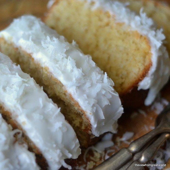 Triple Coconut Pound Cake @Gail Regan Truax://theviewfromgreatisland.com/2014/01/triple-coconut-pound-cake.html