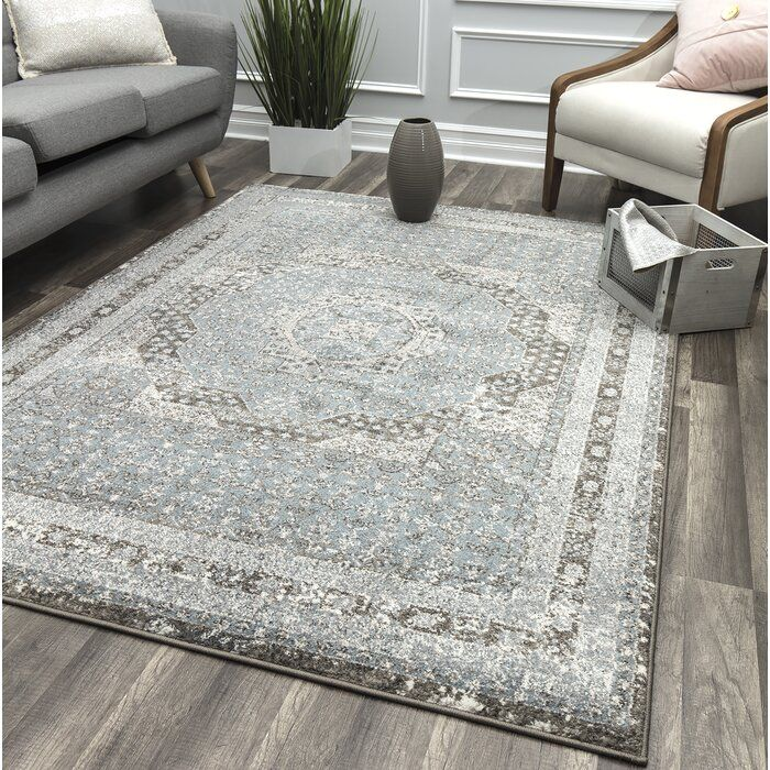 Meeks Light Blue Brown Area Rug In 2020 Light Blue Area Rug Brown Area Rugs Area Rugs