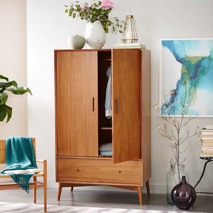 Our Mid Century Wardrobe is crafted of FSC certified wood