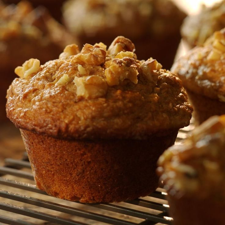Banana-Bran Muffins... From: EatingWell Magazine Winter 2004 By the end of the week, any bananas left in the fruit bowl are past their prime—just right for these moist bran muffins. Add a handful of dark chocolate chips to entice children to enjoy a fiber-rich treat.