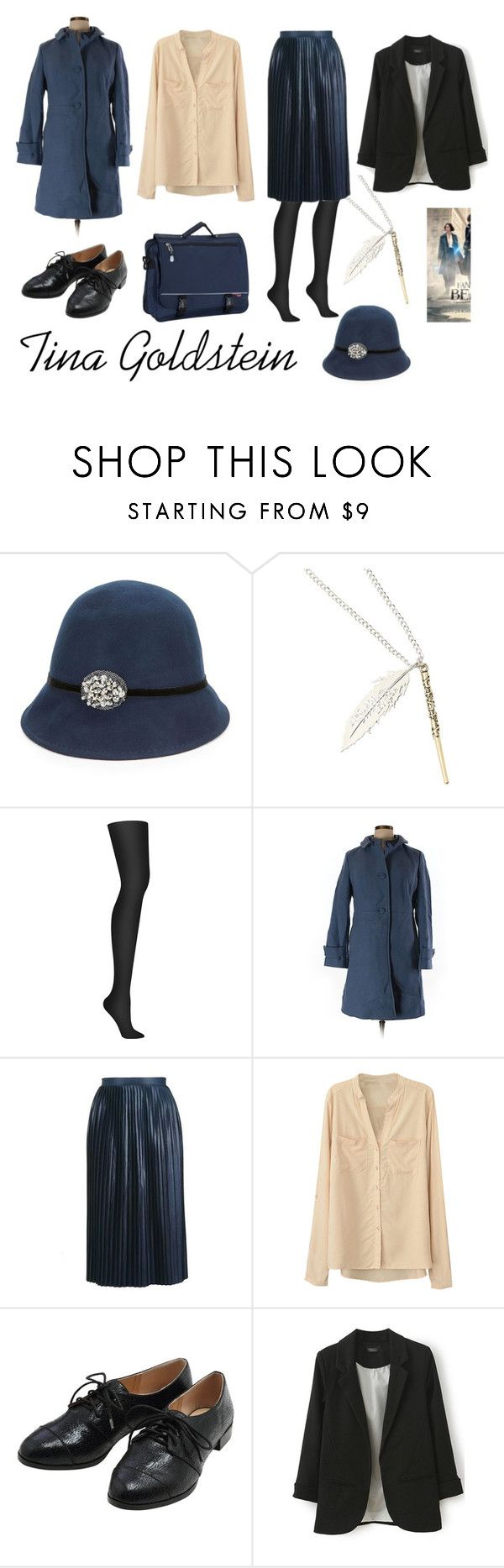 """Tina Goldstein"" by jhmb on Polyvore featuring August Hat, Warner Bros., DKNY, Talbots, Topshop, M&Co and CalPak"