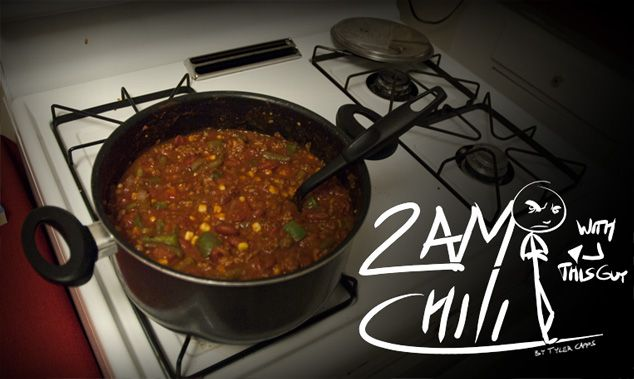Tasty chili, but the best part is that he uses comics and a lot of pictures to show the process!