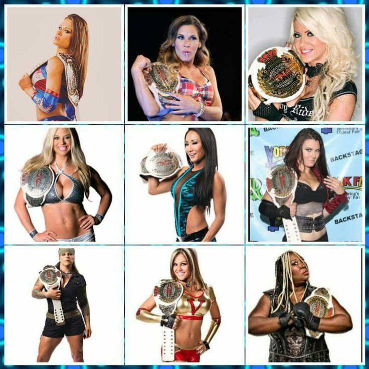 Brooke Tessmacher Mickie James Angelina Love Taryn Terrell Gail Kim Winter ODB Velvet Sky & Awesome Kong are all former Knockout Champion but Current TNA Knockout is Taryn Terrell