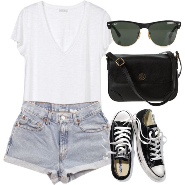 Eleanor inspired-Theme Park by shantal11 on Polyvore featuring American Vintage, Victoria's Secret, Ray-Ban and Levi's