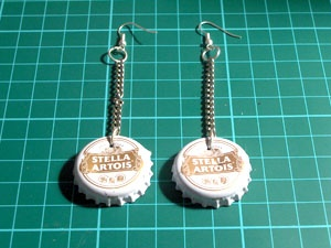 How to Make Bottle Cap Earrings
