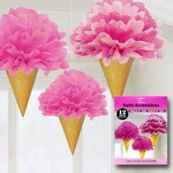 Cutest Tissue Paper Cones for an Ice Cream Party