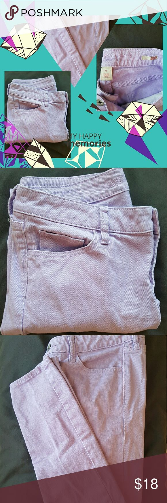 "Pre Black Friday Sale. Lavender skinny pants. Excellent condition women's lavender aupper skinny pants. Inseam 30"" Arizona Jean Company Pants Skinny"