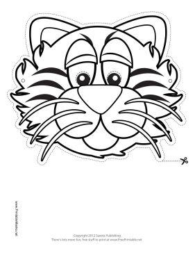 Tiger Mask to Color Printable Mask