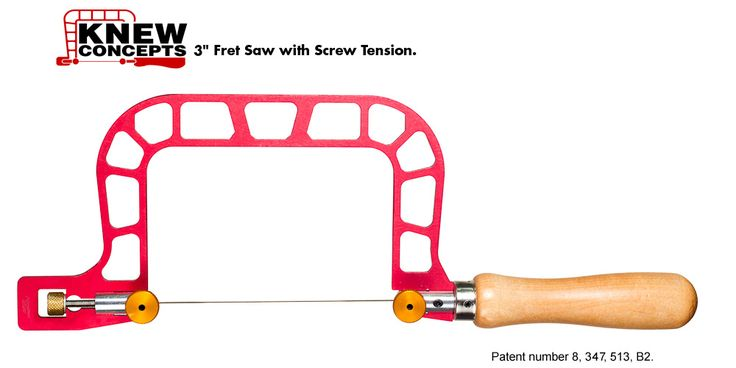 """Knew Concepts 3"""" Fret Saw Frame - Fine Metalsmithing Saws Designed for Artisans - The Red Saw - Santa Cruz, CA Once I got the hang of it, it became my favorite saw for detail work."""