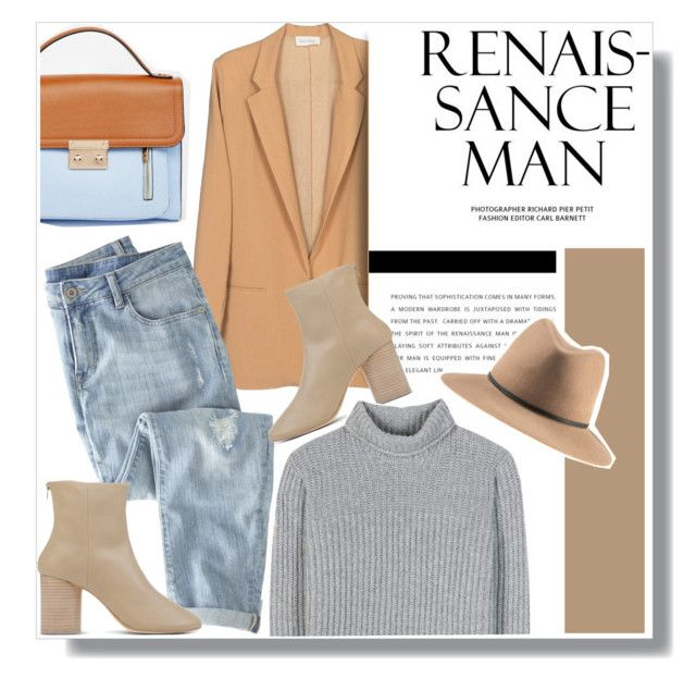 """""""Nude and grey, my favorite color combination!"""" by anne-mclayne ❤ liked on Polyvore featuring ASOS, American Vintage, Wrap, Maison Margiela and Loro Piana"""