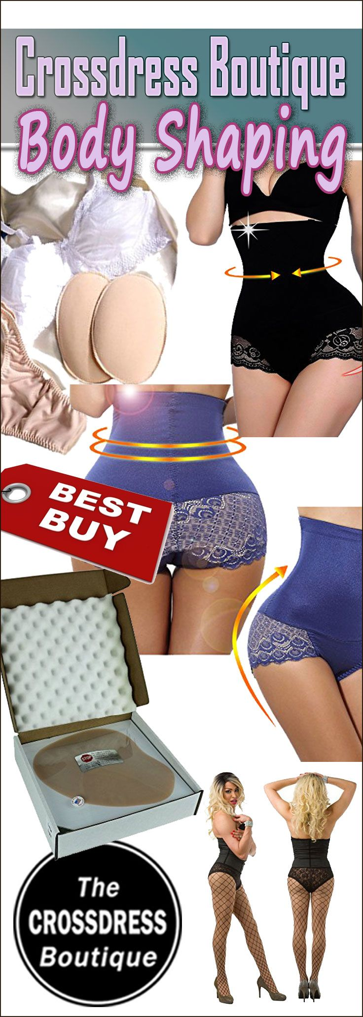 Crossdresser Body Shaping Garments, See More: http://www.crossdressboutique.com/tgirl/lingerie-bras-gaffs/body-shaping/