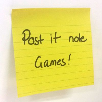 Post It Note Games - games, activities and icebreakers using Post It Notes!