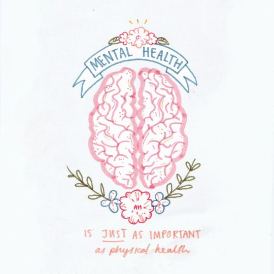Mental health is JUST as important as physical health!                                                                                                                                                      More