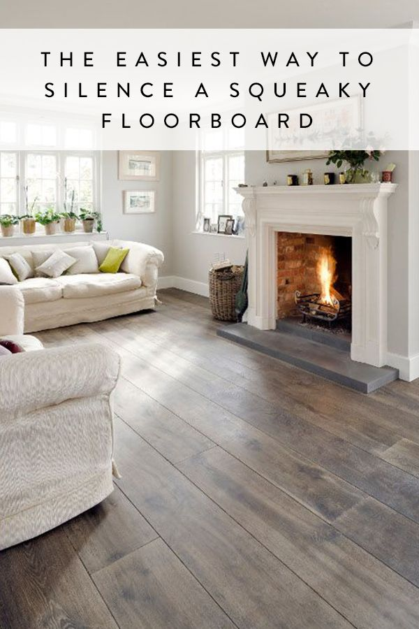 The Easiest Way to Silence a Squeaky Floorboard. Using something in your…