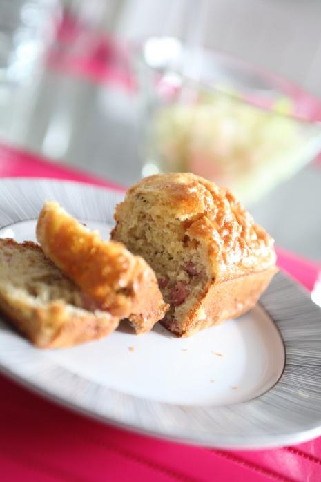 Cake salé : olives & lardons