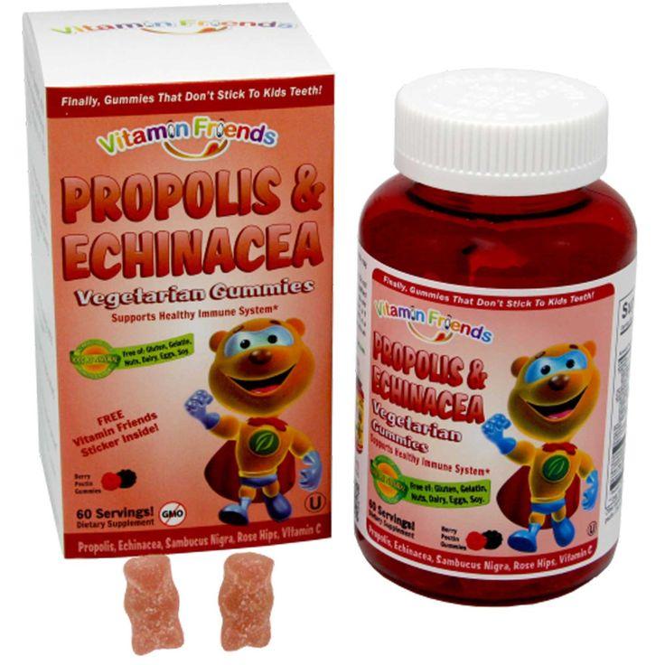 Vitamin Friends, PropoBear, мармелад с прополисом и эхинацеей, ягодный вкус, 60 пектиновых мишек