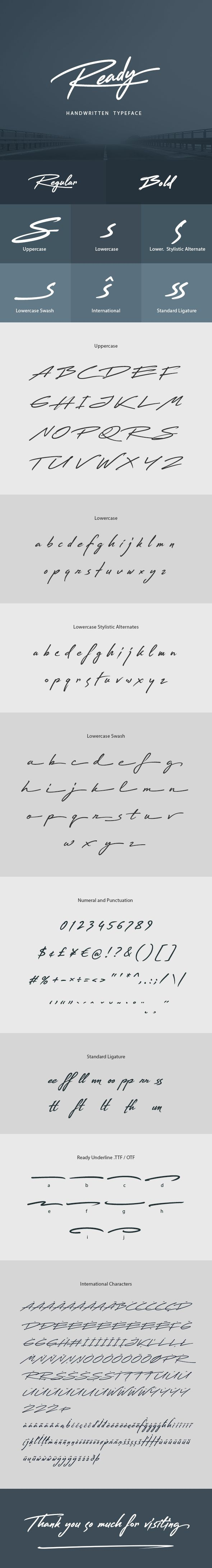Ready Handwritten Font 235 best Design u0026