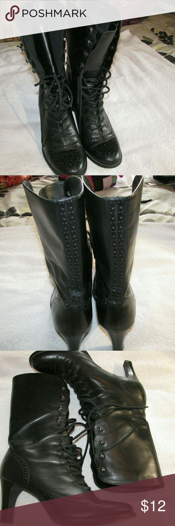 """White Mountain black mid calf boots 3"""" heel White Mountain black mid calf boots 3"""" heel White Mountain  Shoes Heeled Boots"""