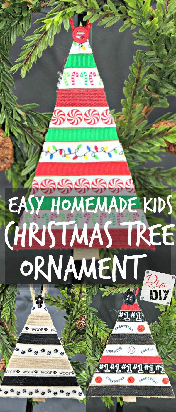 The are the perfect DIY Christmas ornaments for kids to make! These would be perfect easy ornament for kids to make at school! You'll love these for years!