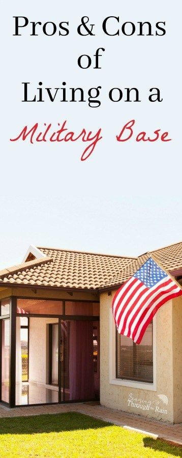 Thinking about living on a military base? Read this list of pros and cons from someone who has done both before you decide! | military, military housing, PCS, Military Base, Base housing.