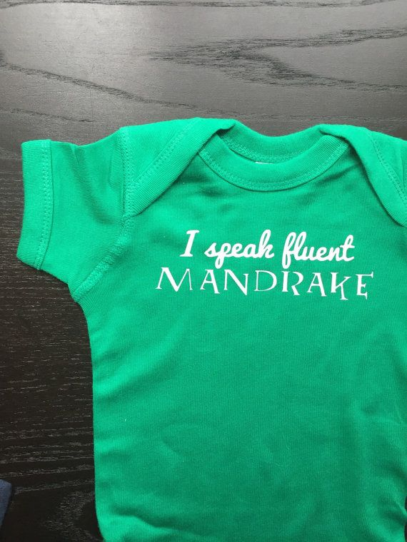 This onesie is perfect for that Harry Potter loving parent in your life!  Onesies and tee shirts are great gifts and statement wear! Dress your