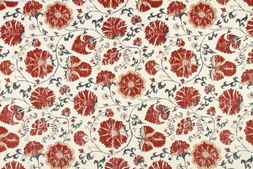 Faded Floral - Robert Allen Fabrics Lacquer Red